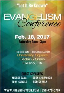 Let It Be Known Evangelism Conference @ University Square Hotel | Fresno | California | United States