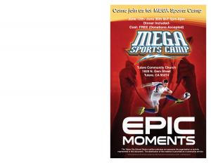 VBC Mega Sports Camp @ Tulare Community Church   Tulare   California   United States