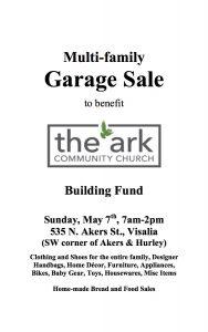 Multi-Family Garage Sale Fundraiser @ Corner of Akers & Hurley | Visalia | California | United States