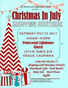 """Christmas In July"" Fundraiser Boutique @ Pentecostal Lighthouse Church | Visalia | California | United States"