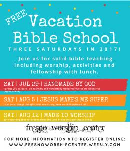 Saturday VBS @ Fresno Worship Center | Fresno | California | United States