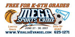 Mega Sports Camp for Kids! @ Evangel Assembly of God   Visalia   California   United States