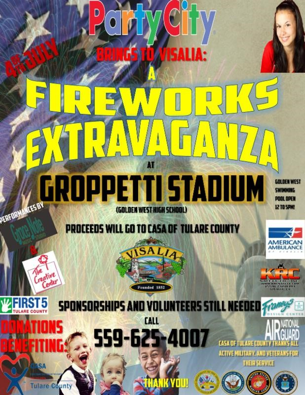 Visalia FIREWORKS EXTRAVAGANZA @ Gropetti Stadium | Visalia | California | United States