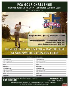 FCA GOLF CHALLENGE @ Sunnyside Country Club | Fresno | California | United States