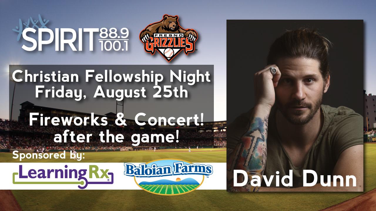 Grizzlies Christian Fellowship Night w/ David Dunn! - Spirit 88.9 ...