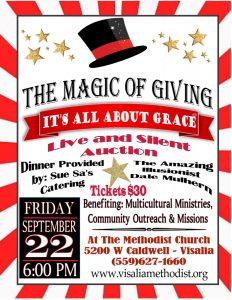 The Magic of Giving: It's All About Grace! @ Visalia Methodist Church | Visalia | California | United States