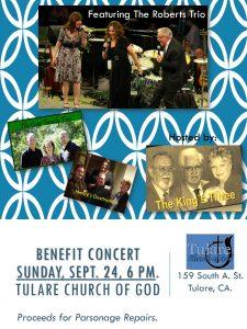 The King's Three - Gospel/Folk Benefit Concert @ Tulare Church of God | Tulare | California | United States
