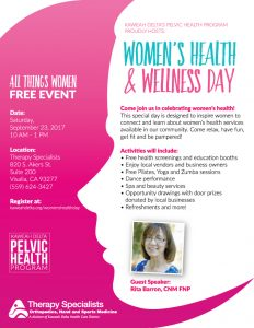 Women's Health & Wellness Day @ Therapy Specialists |  |  |