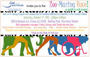 ZOO-Mazing Race through Chaffee Zoo for Disablities! @ Chaffee Zoo | Fresno | California | United States