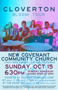 Cloverton: The Bloom Tour @ New Covenant Communit Church | Fresno | California | United States