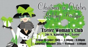 Christmas in October Holiday Boutique @ Exeter Woman's Club | Exeter | California | United States