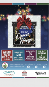 Holiday Open House @ Downtown Visalians | Visalia | California | United States