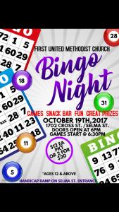 Family Bingo Church Fundraiser @ First United Methodist Church  | Selma | California | United States