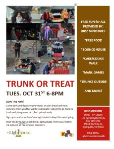 Trunk or Treat SPRINGVILLE! @ Lighthouse in Springville's Annual Trunk or Treat | Springville | California | United States