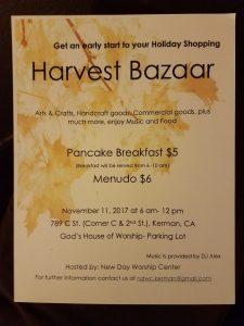 Harvest Bazaar @ New Day Worship Center   Kerman   California   United States