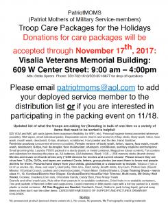Troop Care Box Event - Patriot-moms @ Visalia Veterans Memorial Building   Visalia   California   United States