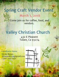 Spring Vendor Event @ Valley Christian Church   Tulare   California   United States