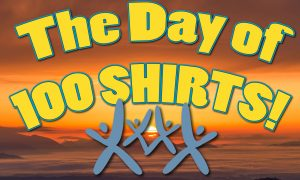 DAY OF 100 SHIRTS Sticker Stop! @ Visalia Grocery Outlet | Visalia | California | United States
