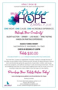 BrushStrokes for Hope Paint Night - Dinner and Hands-on Painting Fundraising Event @ Ramos Torress Winery   Kingsburg   California   United States
