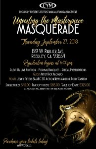 Unveiling the Masterpiece - Formal Masqerade Banquet & Fundraiser for Community Youth Ministries @ Redeemers Church   Reedley   California   United States