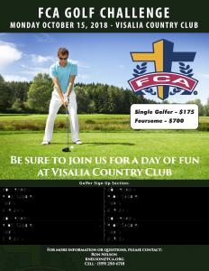 FCA Golf Challenge @ Visalia Country Club   Visalia   California   United States