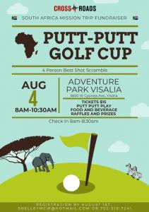 Putt-Putt Mini Golf Fundraiser @ Adventure Park | Visalia | California | United States