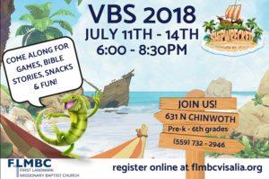 FREE VBS - Shipwrecked @ First Landmark Missionary Baptist Church   Visalia   California   United States