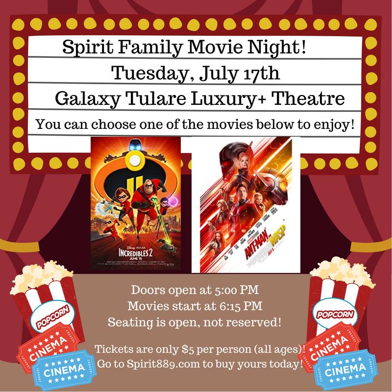 sold out spirit family movie night spirit 88 9 100 1
