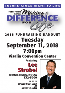 23rd Annual Making a Difference for Life Banquet @ Visalia Convention Center   Visalia   California   United States