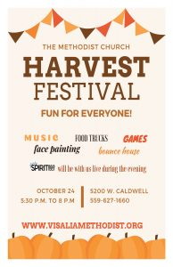 Harvest Festival @ Visalia Methodist Church   Visalia   California   United States
