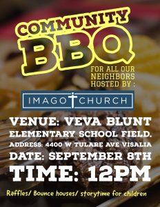 Imago Church community BBQ @ Veva Blunt Elementary School   Visalia   California   United States