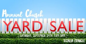 Evangel's Annual Yard Sale @ Evangel Assembly of God   Visalia   California   United States