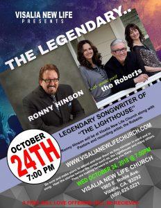 Ronny Hinson Concert @ Visalia New Life | Visalia | California | United States