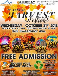The 7th Annual Harvest Festival @ McDermont Field House   Lindsay   California   United States