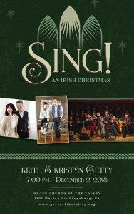 Keith & Kristyn Getty – Sing! An Irish Christmas @ Grace Church of the Valley | Kingsburg | California | United States