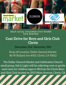 Coat and Toy Drive for Clovis Boys and Girls Club @ Dollar General Market @ Dollar General Market  | Clovis | California | United States
