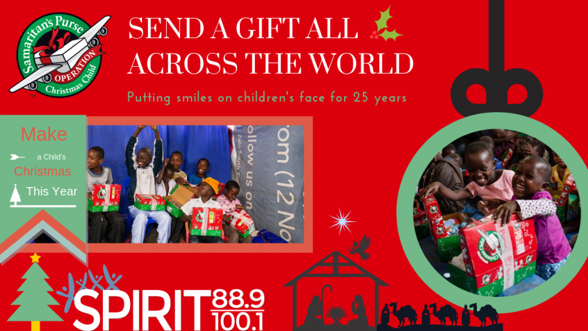 Operation Christmas Child Drop Off.Operation Christmas Child Drop Off Spirit 88 9 100 1