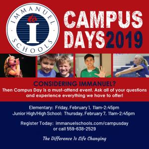 Campus Day - Immanuel Elementary @ Immanuel Elementary School