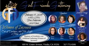 Girlfriends Gathering (Women of Increase) @ Memorial Veteran Hall