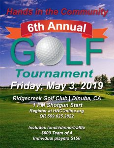 Hands in the Community's 6th Annual Golf Tournament @ Ridge Creek Golf Course