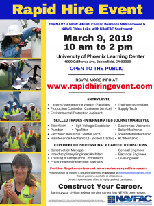Rapid Hire Event for NAVFAC Southwest @ University of Phoenix Learning Center