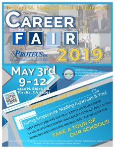Proteus Inc. Spring Career Fair @ William M. Maguy Career Fair 2019