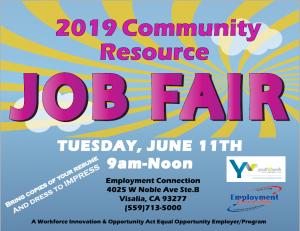 2019 Community Resource Job Fair @ Employment Connection