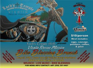 "Lord's Temple MM presents the ""Visalia Rescue Mission Bike Blessing Brunch"" @ Visalia Harley-Davidson"