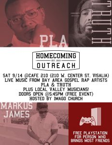 Homecoming Outreach (Youth & Young Adults) @ Cafe 210