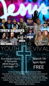 Youth Event 2020 @ First Baptist Church of Springville | Springville | California | United States