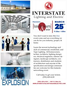 Lunch and Learn with Interstate LTG @ Interstate Lighting and Electric | Richmond | Virginia | United States